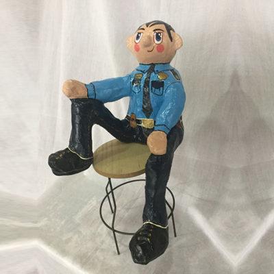 Escultura Gordos Guarda de seguridad