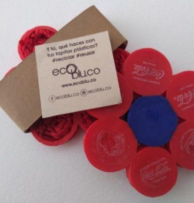 Regalos Colombianos - Portavasos Flor - Eco Reciclados