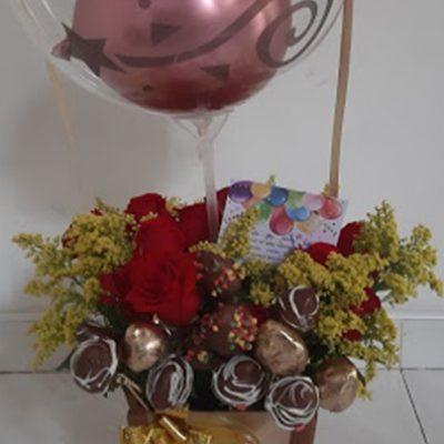 Regalos Colombianos - Flores y Fresas- Nutrilove