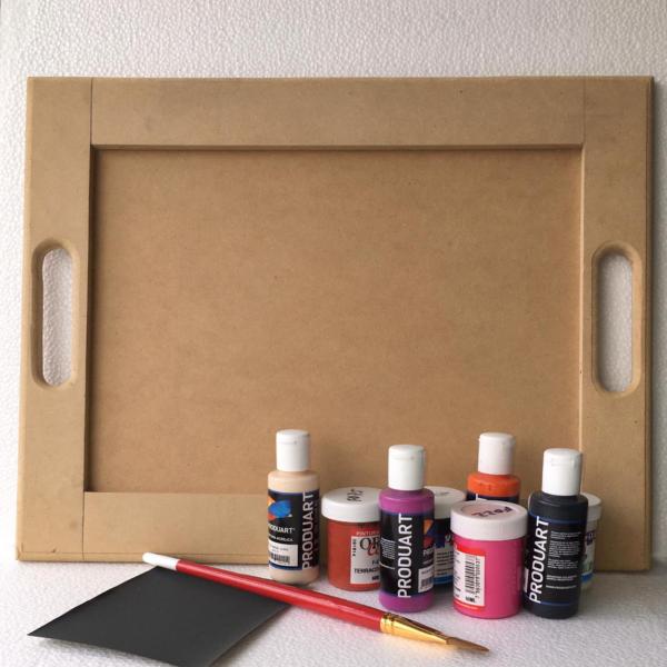 Regalos Colombianos / Portavasos / Milkko Artre Manual / Kit para pintar bandeja