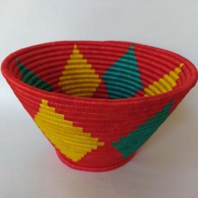 Regalos Colombianos / Frutero / Artesanias Frasilgo/ Cesteria Rollo - Guacamayas